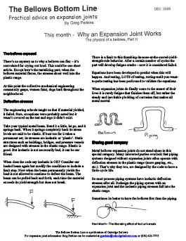 Why an Expansion Joint Works - Part 2