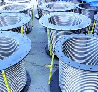 Wartsila recipricating natural gas engine exhaust duct expansion joints